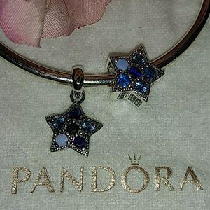 Pandora Crystal Bright Star Charm + BONUS dangle!